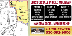 Gold Mountain lots for sale